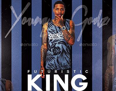 Futuristic King | Mixtape Album CD Cover Template