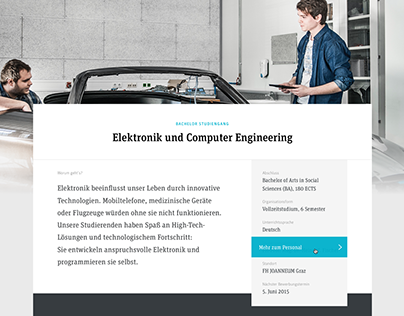 FH JOANNEUM Website Relaunch