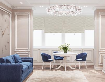 Classical interior in 116 m2