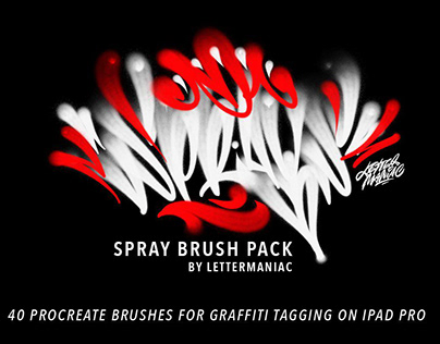 Spray Brushes for Procreate App