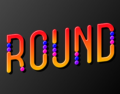 Font with colorful round inserts similar to sweets.