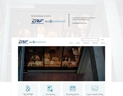 Website Redesign Concept for CRIF DNB