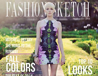 Fashion Sketch Magazine Cover & Spread