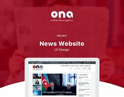 ona.az - news website design
