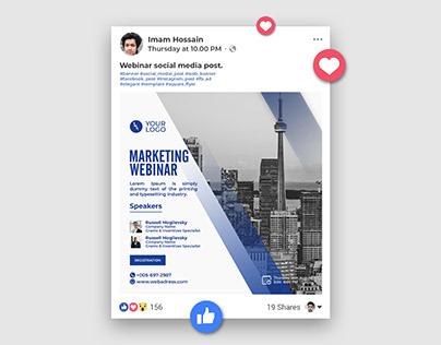 Marketing webinars social media banner