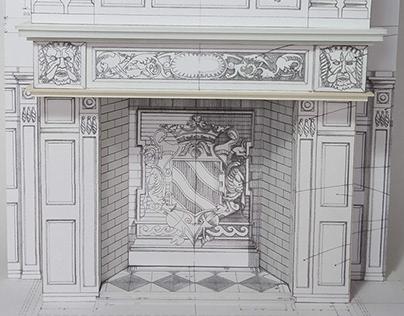 Curious Guardians - Brzezie Palace Fireplace card model