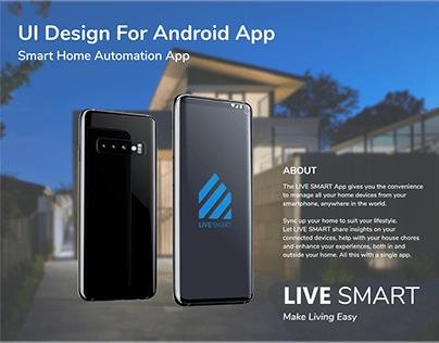 Android App Presentation - LIVE SMART