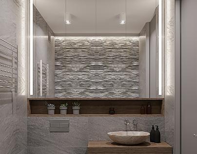 Visualisation the bathroom.