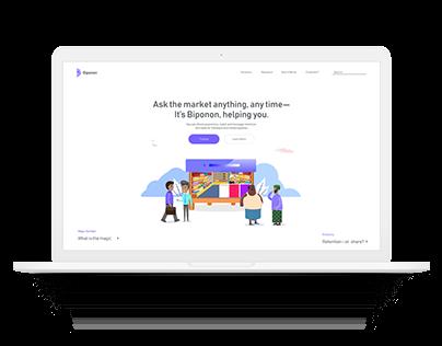 Biponon — A Retail AI Website UI/UX