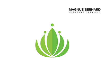 Logo Buildup for Magnus Bernard cleaning services