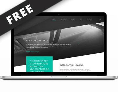 Architects Website PSD Mock-up