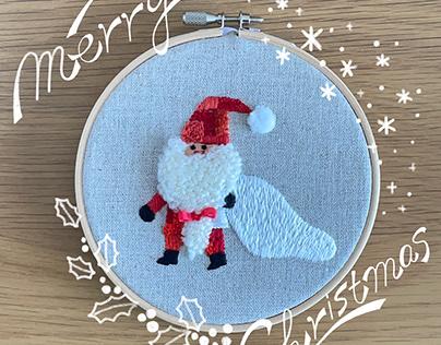 モコモコひげのサンタクロース/Santa Claus with a fuzzy beard