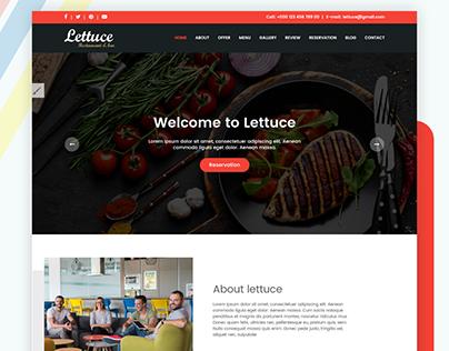 Lettuce - Italian Restaurant HTML5 Template [Free PSD]