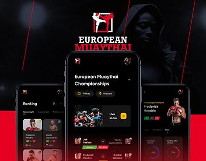 European Muaythai Championships App