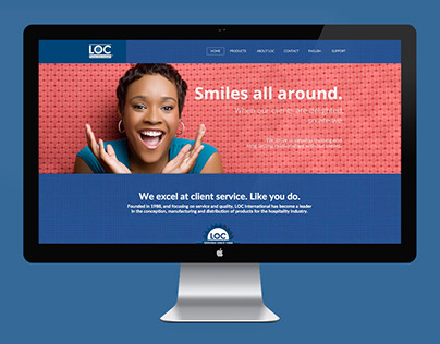 LOC International ~ Website design