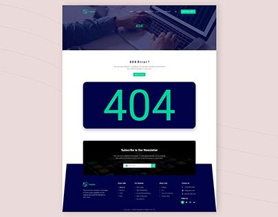 404 Page UIUX Design