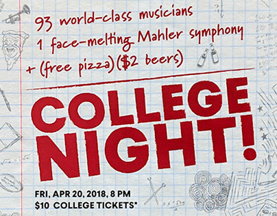 College Night, BSO 2017-18