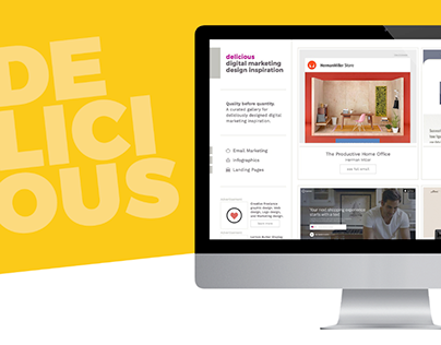 Delicious Digital Marketing Design Inspiration