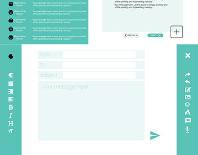 Email web app redesign