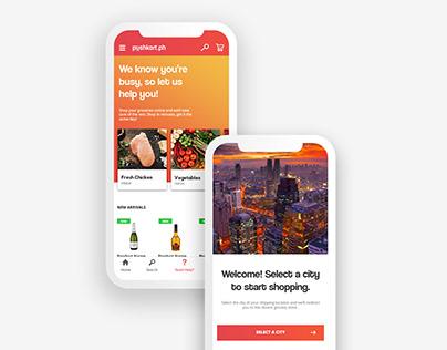 UI / UX Design: Pushkart.ph iPhone & Android app