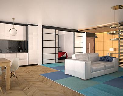 Japandi Interior CGI 3D Architectural Visualisation