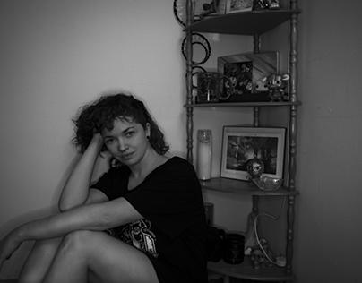 B/W Environmental Self Portrait