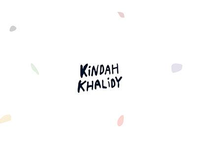 Kindah Khalidy's website redesign