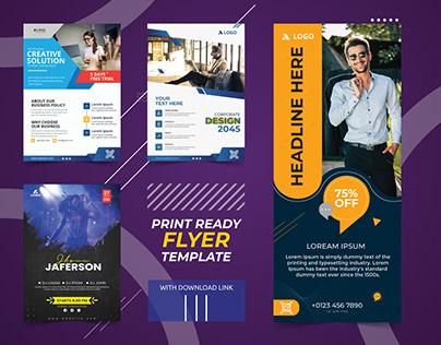 Print ready Flyer design template   Pavel_design