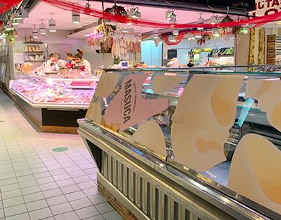 Mercat interior Nadal 2020, installation
