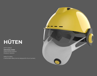 HÜTEN - safety helmet designed for the oil workers