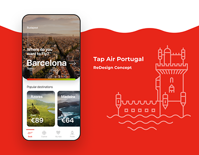 TAP Air Portugal iOS App Redesign Concept