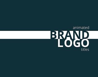 Animated brand logo titles