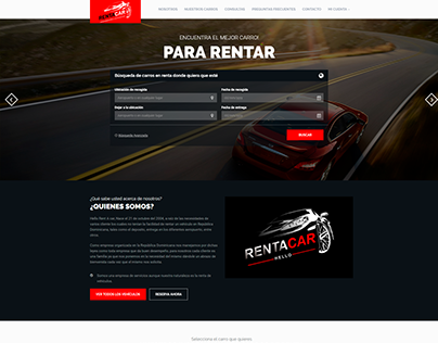 Sitio Web - Rent A Car Hello