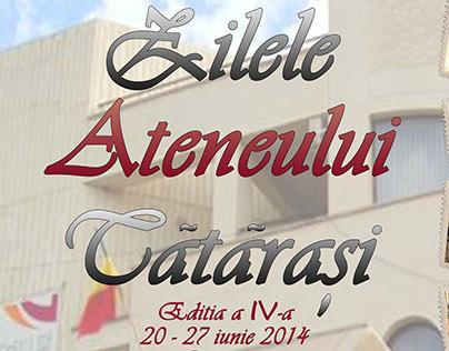 Event Poster - Zilele Ateneului Tatarasi 2014