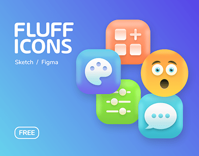 FLUFF 3D ICONS - FREE 😋