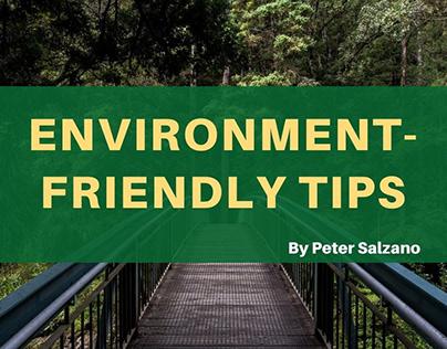 Peter J Salzano – Environment-friendly Tips