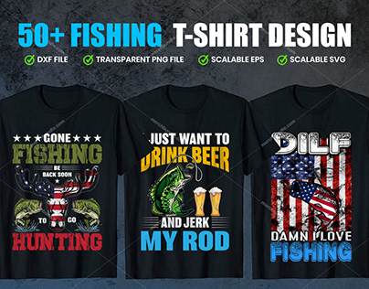 50+ Fishing T-Shirts Design Bundle