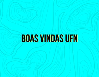 Cartaz - Boas Vindas UFN