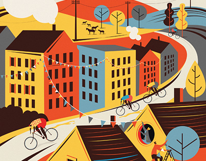 Countryside Cycling Prints