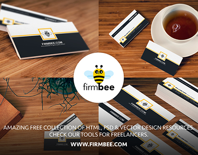 Free Business Cards Mockups - also for commercial use