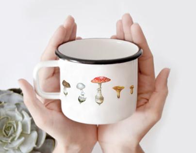 Enamel retro mug