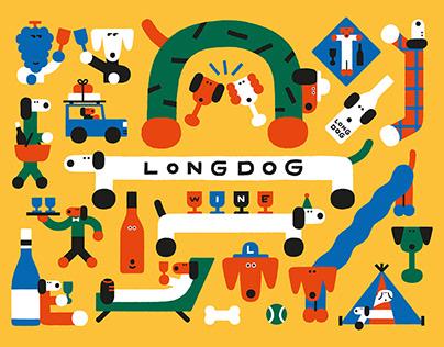 longdog wine illustration