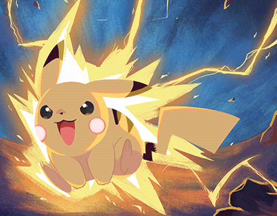 Pikachu Pokemon Electri Shock