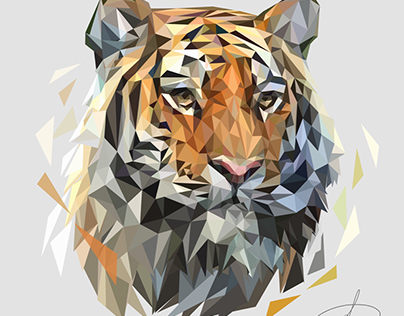 Polygonal Tiger