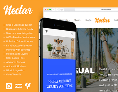 Nectar WordPress Theme Responsive Multi-Purpose