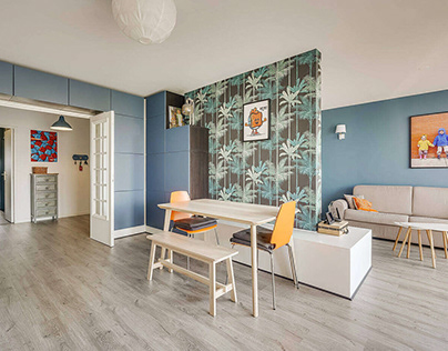 Apartment in Villeurbanne by MOKA