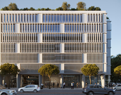Office buildings in Syngrou Avenue in Athens Greece