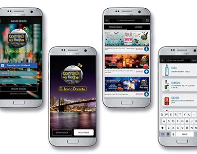 Correo de la noche / Diseño de aplicación móvil