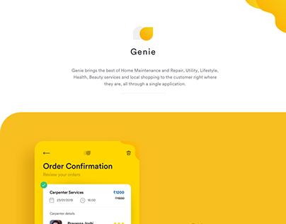 Genie:Mobile App UI Design