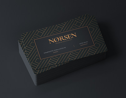 Norsen - Premium Restaurant Business Card